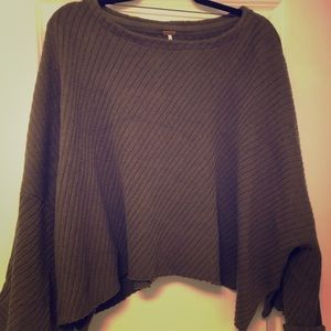 Free People Crop Poncho Sweater